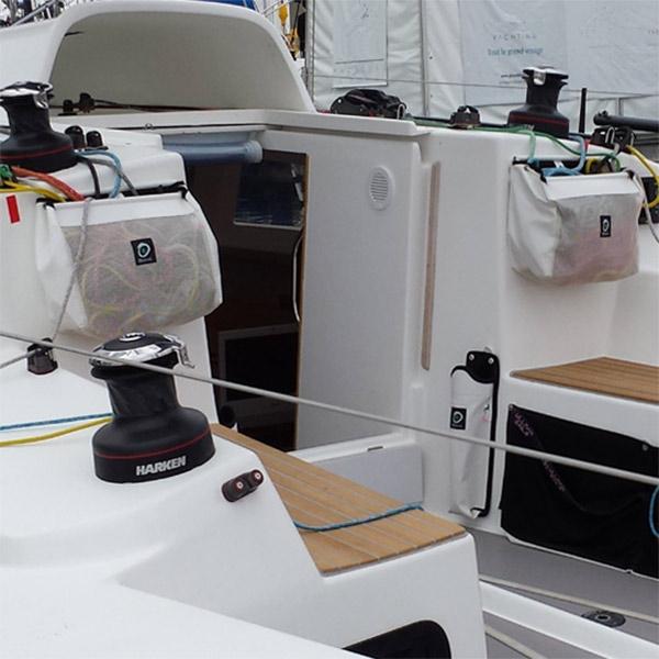Tauwerktsche geschlossen für Fallen und Schoten von OUTILS OCEAN im Cockpit I outmar.com