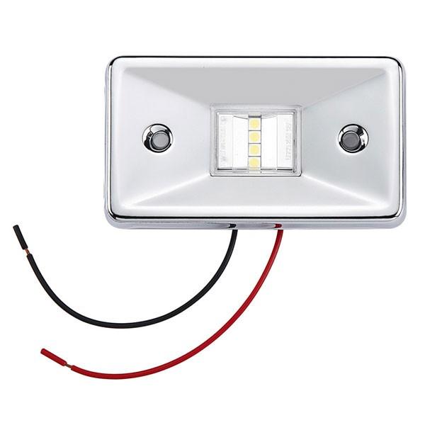 LED Navigationsleuchte, Heckleuchte, Edelstahl, 2 nm