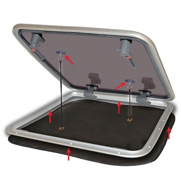 Popup-Mückennetz für Decksluken/Dachluken 800 x 800 mm