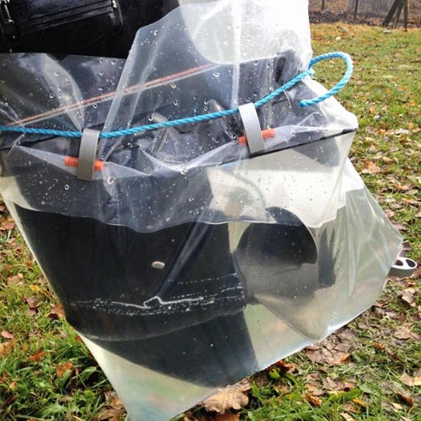 Aussenborder Spülsack für Reinigung und Konservierung des Bootsmotors