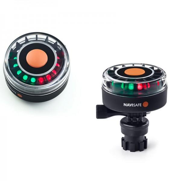 LED Navilight Tricolor 2 NM mit Navimount Sockel, Dreifarbenleuchte, Zweifarbenleuchte, Heckleuchte