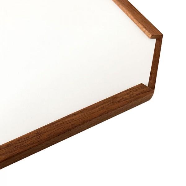 Bootstisch-Platte weiss mit Echtholzkante Modell Rimini I outmar.com