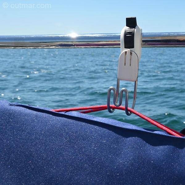 Pivotion Multifunktionshaken für 25 mm Reling I outmar.com