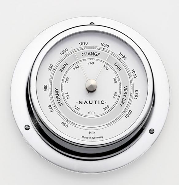 Schiffsbarometer Edelstahl poliert I outmar.com