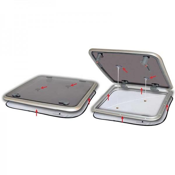 Mückennetz / Verdunkelung mit Belüftung für Decksluken 800 x 800 mm
