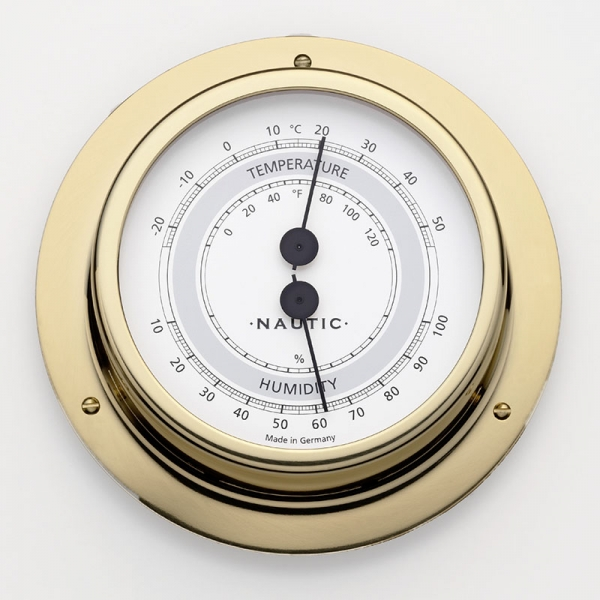 Schiffsthermometer / - hygrometer Messing poliert I outmar.com