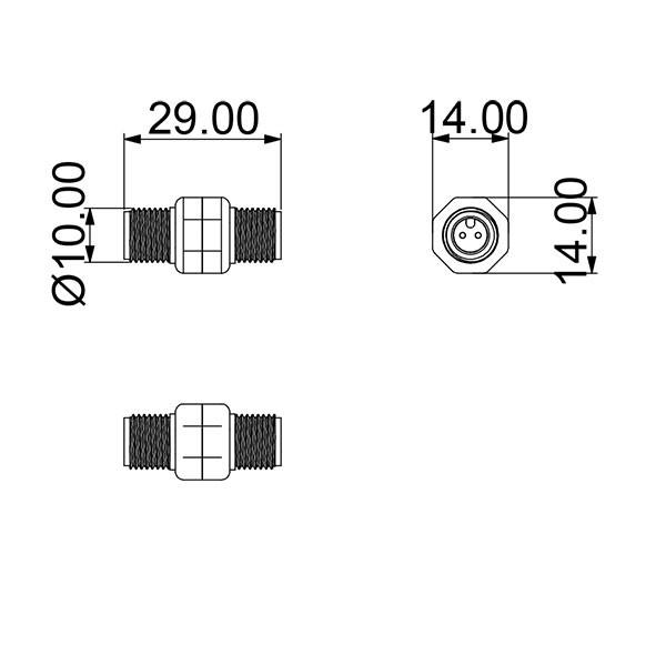 LEDs'inno Kabel-Kupplung 2-pin I outmar.com