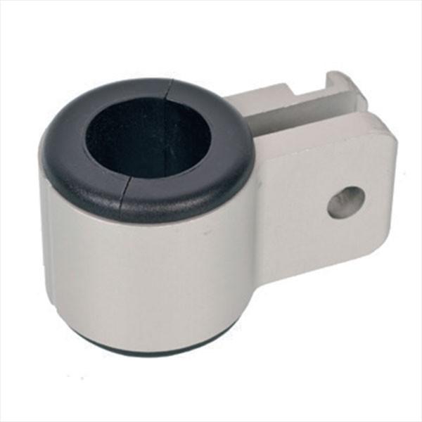 NOA Rohrhalter mit gerundeten Ecken, seewasserbeständiges Aluminium