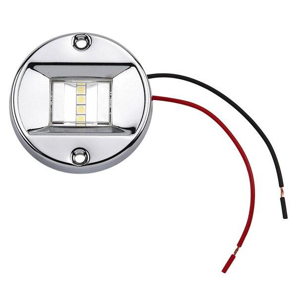 LED Navigationsleuchte, Heckleuchte rund, Edelstahl, 2 nm